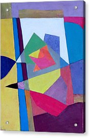 Abstract Angles II Acrylic Print by Diane Fine