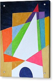 Abstract Angles Xi Acrylic Print by Diane Fine