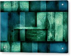 abstract art Blue Dream Acrylic Print by Ann Powell