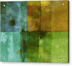 abstract - art- Color Block Rectangle  Acrylic Print by Ann Powell