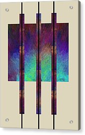 abstract - art- Earth Song Acrylic Print by Ann Powell
