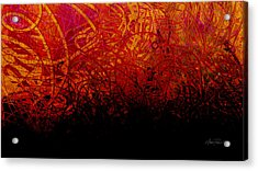abstract - art- Fire Dance  Acrylic Print by Ann Powell