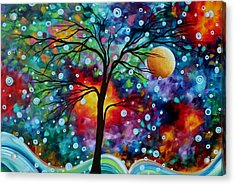 Abstract Art Original Colorful Landscape Painting A Moment In Time By Madart Acrylic Print by Megan Duncanson