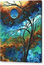 Abstract Art Original Colorful Painting Mystery Of The Moon By Madart Acrylic Print by Megan Duncanson