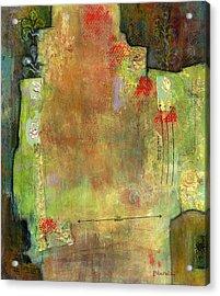 Abstract Art Where The Love Is Acrylic Print by Blenda Studio