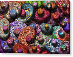 Abstract - Beans Acrylic Print by Mike Savad