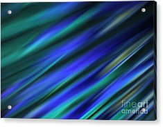 Abstract Blue Green Diagonal Blur Acrylic Print by Marvin Spates