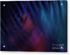 Abstract Blue Red Green Diagonal Blur Acrylic Print by Marvin Spates