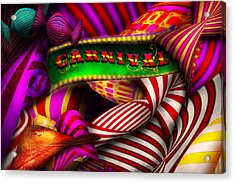 Abstract - Carnival Acrylic Print by Mike Savad