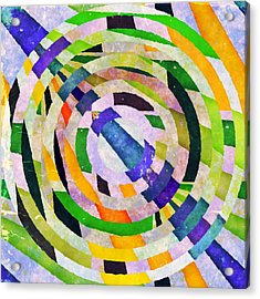 Abstract Circles Acrylic Print by Susan Leggett