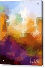 Abstract Cityscape Cubic Acrylic Print by Lutz Baar