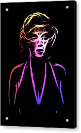 Abstract Colorful Monroe Acrylic Print by Steve K