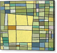 Abstract Cubist Acrylic Print by Gary Grayson