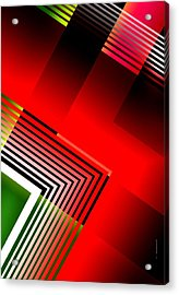 Abstract Design With Parallel Lines Acrylic Print by Mario Perez