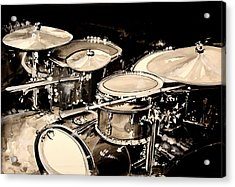 Abstract Drum Set Acrylic Print by J Vincent Scarpace