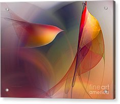 Abstract Fine Art Print Early In The Morning Acrylic Print by Karin Kuhlmann