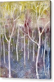 Abstract Forest Acrylic Print by Suzette Broad
