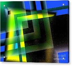 Abstract Geometry With Effects And Transparency Acrylic Print by Mario Perez