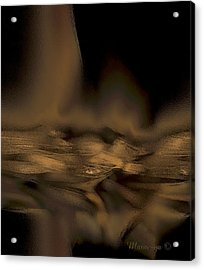 Abstract Golden Fireplace Acrylic Print by Ines Garay-Colomba