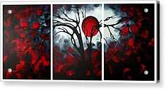 Abstract Gothic Art Original Landscape Painting Imagine By Madart Acrylic Print by Megan Duncanson