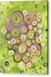 Abstract Grapes Acrylic Print by Veronica Minozzi