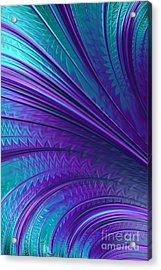 Abstract In Blue And Purple Acrylic Print by John Edwards