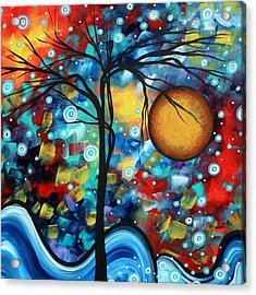 Abstract Landscap Art Original Circle Of Life Painting Sweet Serenity By Madart Acrylic Print by Megan Duncanson