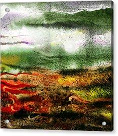 Abstract Landscape Sunrise Sunset Acrylic Print by Irina Sztukowski