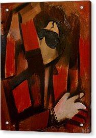 Abstract Cubism Michael Jackson Art Print Acrylic Print by Tommervik