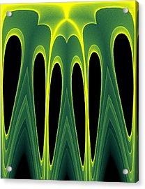Abstract Of Balanced Green Acrylic Print by Linda Phelps