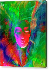 Abstract Of Meditating Human Face Acrylic Print by Jaynes Gallery