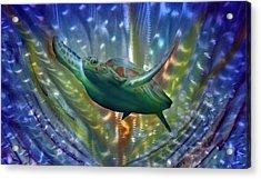 Abstract Sea Turtle 2 Acrylic Print by Luis  Navarro
