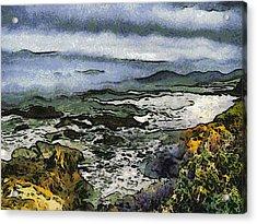Abstract Seascape Morro Bay California Acrylic Print by Barbara Snyder