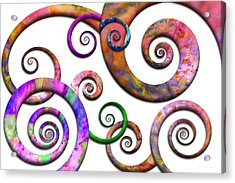 Abstract - Spirals - Planet X Acrylic Print by Mike Savad