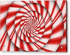 Abstract - Spirals - The Power Of Mint Acrylic Print by Mike Savad