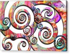 Abstract - Spirals - Wonderland Acrylic Print by Mike Savad