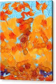 Abstract Summer Acrylic Print by Pixel Chimp