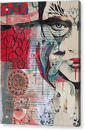 Abstract Tarot Card 008 Acrylic Print by Corporate Art Task Force