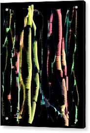 Abstract Vertical Designs Acrylic Print by Mario Perez