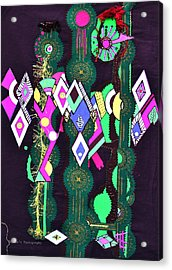 Abstract Warriors Acrylic Print by Ruth Yvonne Ash