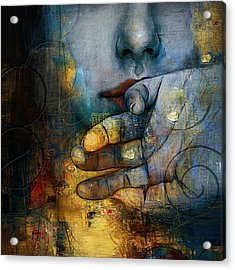 Abstract Woman 011 Acrylic Print by Corporate Art Task Force
