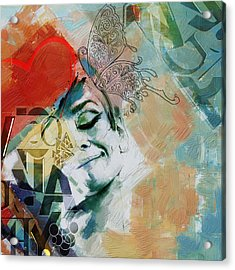 Abstract Women 008 Acrylic Print by Corporate Art Task Force