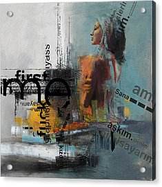 Abstract Women 013 Acrylic Print by Corporate Art Task Force