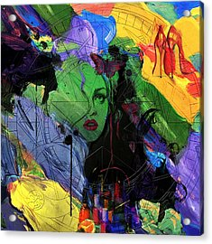 Abstract Women 014 Acrylic Print by Corporate Art Task Force