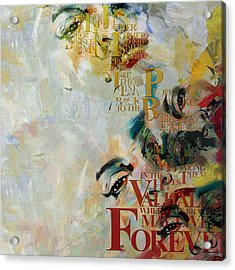 Abstract Women 018 Acrylic Print by Corporate Art Task Force