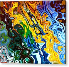 Abstracted Glass8 Acrylic Print by Linnea Tober