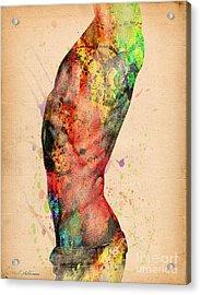 Abstractiv Body - 3 Acrylic Print by Mark Ashkenazi