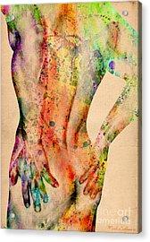 Abstractiv Body - 4 Acrylic Print by Mark Ashkenazi