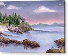 Acadia Sunrise Schooner Head Acrylic Print by Stephanie Woerner