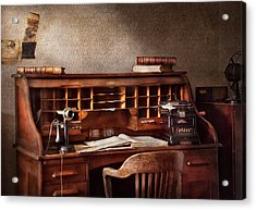 Accountant - Accounting Firm Acrylic Print by Mike Savad